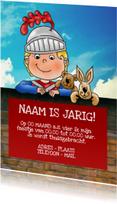 Kinderfeestjes - Uitnodiging kinderfeestje ridder