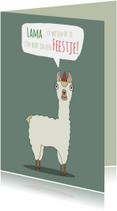 Uitnodigingen - Uitnodiging Lama weten of je komt!