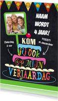 Kinderfeestjes - Uitnodiging met teksten in taart