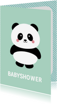 Uitnodigingen - Uitnodiging panda babyshower