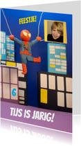 Kinderfeestjes - Uitnodiging spiderman feest jongen 3d