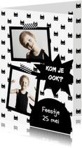 Kinderfeestjes - Uitnodiging Super Hero