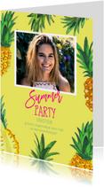 Uitnodigingen - Uitnodiging Tropisch feestje Ananas