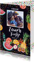 Uitnodigingen - Uitnodiging tropisch tuinfeestje