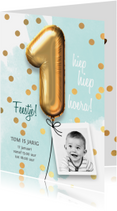 Kinderfeestjes - Uitnodiging verjaardag 1 jaar jongen