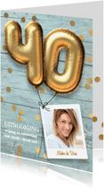 Uitnodigingen - Uitnodiging verjaardag 40 jaar feest
