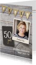 Uitnodigingen - Uitnodiging verjaardag 50