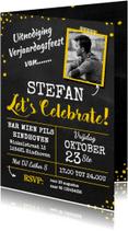 Uitnodigingen - Uitnodiging verjaardag geel av