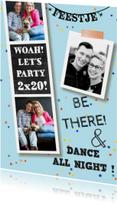 Uitnodigingen - Uitnodiging verjaardag hip feest