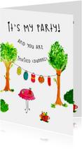 Uitnodigingen - Uitnodiging Verjaardag IT'S MY PARTY CliniClowns