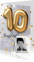 Kinderfeestjes - Uitnodiging verjaardag jongen 10 jaar