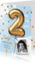 Kinderfeestjes - Uitnodiging verjaardag jongen 2 jaar
