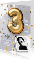 Kinderfeestjes - Uitnodiging verjaardag jongen 3 jaar