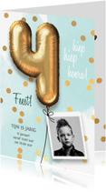 Kinderfeestjes - Uitnodiging verjaardag jongen 4 jaar