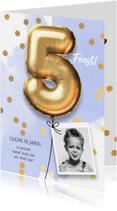 Kinderfeestjes - Uitnodiging verjaardag jongen 5 jaar