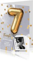 Kinderfeestjes - Uitnodiging verjaardag jongen 7 jaar