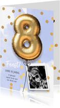 Kinderfeestjes - Uitnodiging verjaardag jongen 8 jaar
