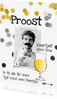 Uitnodigingen - Uitnodiging verjaardag man biertje