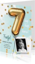 Kinderfeestjes - Uitnodiging verjaardag meisje 7 jaar