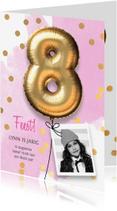 Kinderfeestjes - Uitnodiging verjaardag meisje 8 jaar