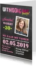 Uitnodigingen - Uitnodiging verjaardag vrouw -AV