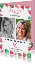 Uitnodigingen - Uitnodiging voor een vijftig jaar feestje zomer