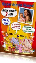 Kinderfeestjes - Uitnodiging voor kinderfeest met dieren en eigen foto