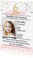 Kinderfeestjes - Uitnodiging watercolor - goud
