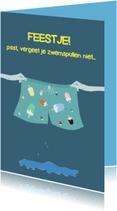 Kinderfeestjes - Uitnodigingen Psst, zwembroek
