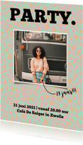 Uitnodigingen - Uitnodigingskaart met hippe panterprint