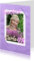 Uitnodigingen - Uitnodigingskaart vintage paars