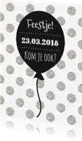 Uitnodigingen - Uitnodigingskaartje Ballon - WW