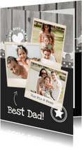 Vaderdag kaarten - Vaderdag Fotocollage hout grijs