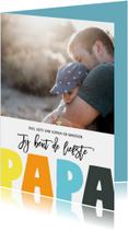 Vaderdag kaarten - Vaderdag PAPA letters
