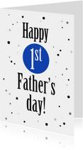 Vaderdag kaarten - vaderdag stippen 1x vader - ST