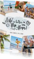 Vakantiekaarten - Vakantie fotocollage kaart met polaroids