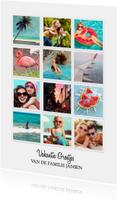 Vakantiekaarten - Vakantie Groetjes Instagram kaart