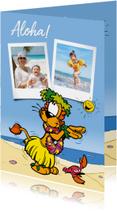 Vakantiekaarten - Vakantie Loeki zegt Aloha