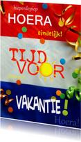Vakantiekaarten - Vakantie tijd vlag