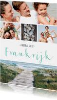 Vakantiekaarten - Vakantiekaart fotocollage met 5 foto's
