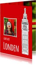 Vakantiekaarten - Vakantiekaart liefs uit Londen - SG