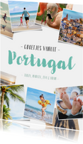 Vakantiekaarten - Vakantiekaart met polaroid fotocollage