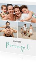 Vakantiekaarten - Vakantiekaart stijlvol met fotocollage en 3 foto's