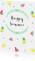 Vakantiekaarten - Vakantiekaart summer fruit