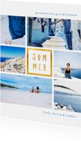 Vakantiekaarten - Vakantiekaart 'Summer' met 6 foto's