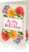 Valentijnskaarten - Valentijn botanische bloemen