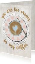 Liefde kaarten - Valentijn Cappuchino met hartje