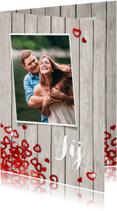 Valentijnskaarten - Valentijn confetti hartjes