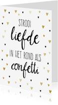 Valentijnskaarten - Valentijnskaart confetti