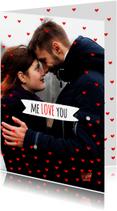 Valentijnskaarten - Valentijnskaart foto met hartjes
